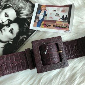 Free People Croc Leather Belt